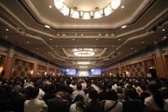 6月9日。一般公開の全体会議では、約2000人の聴衆が聞き入った | June 9th  Approximately 2000 audience listened attentively to the discussions at the  plenary session which was opened to public
